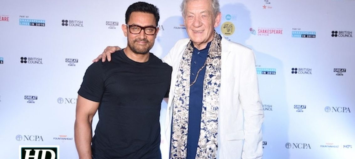 Aamir Khan and Ian McKellen
