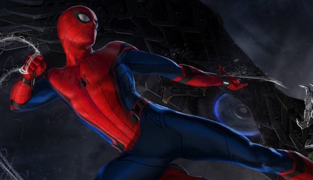 'Spider-Man: Homecoming' concept art featuring Spidey and The Vulture. Image: Marvel Studios